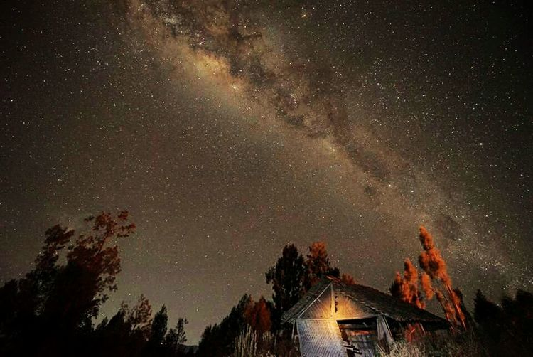 Milky Way in Bromo