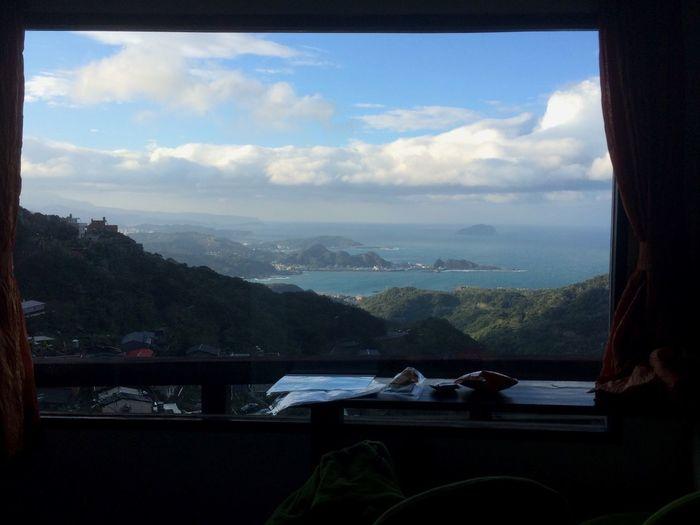 Beautiful Morning View . Taipei Trip / Jiufen iWhite CloudslOceanoBlue SkyeHayao MiyazakiaPrincess Mononokeonoke