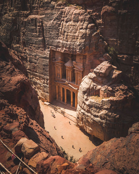 Archaeology Ruined Arid Climate Outdoors Old Ruin History Architecture Nature Travel Ancient Travel Destinations Ancient Civilization Tourism Rock Petra Jordan Middle East Antic City Canyon Valley Hike Crazy Place Mountain Point Of View Treasury