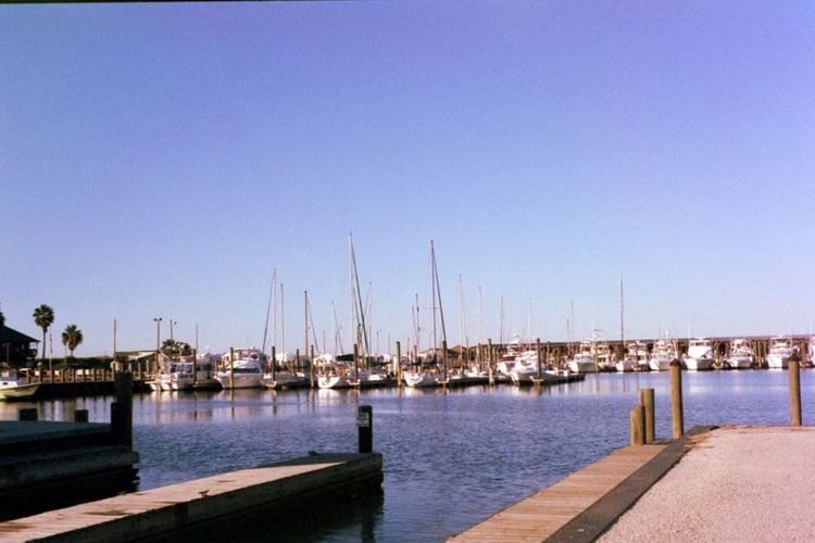Film Architecture Blue Clear Sky Commercial Dock Day Film Photography Filmcamera Filmisnotdead Filmphotography Harbor Jetty Mast Mode Of Transport Moored Nature Nautical Vessel No People Outdoors Sailboat Sea Sky Transportation Water Yacht