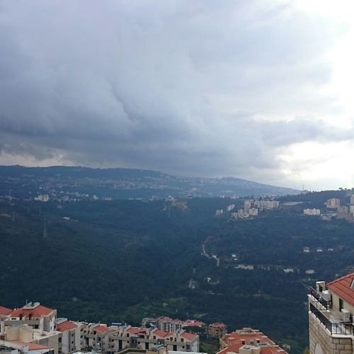 Mountain View Winter Clouds And Sky Nature Mansouriye Lebanon