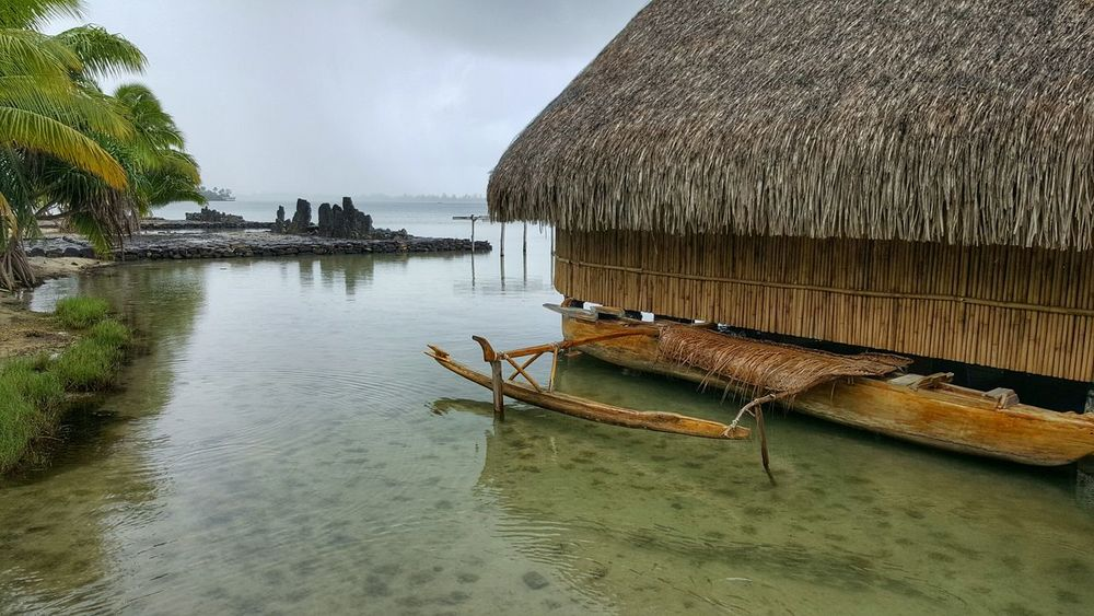 Marae Maeva, Huahine Island, French Polynesia Water Boat Waterfront Tranquil Scene Tranquility Sea Travel Adventure Hiking Artphotography Stunning View Adventure Club Landscape_lovers Stunning_shots Podróże Travelphotography Hello World FrenchPolynesia Pacific Ocean Marae Maraemaeva Huahineisland Huahine Nature Holidays