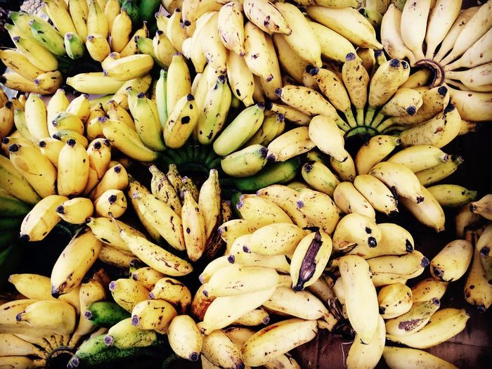 Full frame shot of bananas for sale at market