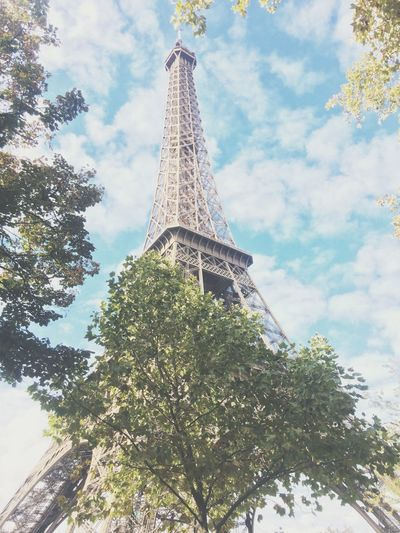 H I D E N S E E K Low Angle View Tower Architecture Tall - High Tree Cultures City Built Structure Sky Travel Destinations No People Outdoors History Day Eiffel Tower Paris