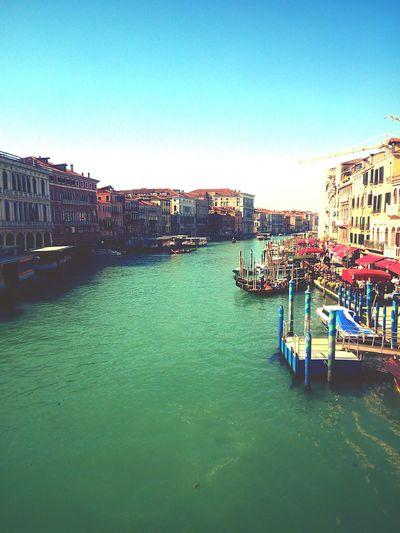 Canal grande Venezia Gondola - Traditional Boat Cityscape Water City Sky Architecture Building Exterior