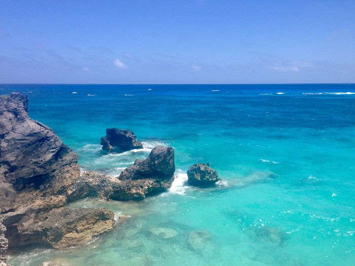 Bermuda Sea Horizon Over Water Water Scenics Nature Beauty In Nature Rock - Object Outdoors Tranquility Day No People Beach Blue Rock Formation Sky Tranquil Scene