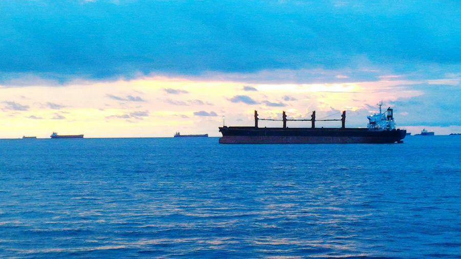 Eyeem Philippines Helloeyeempeople Marino Seamanlife Nautical Vessel Sunrise Beauty In Nature Transportation Horizon Over Water Sea Hello World