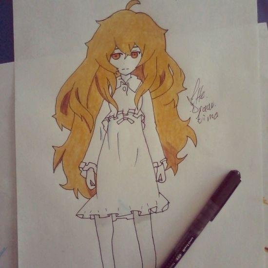 "Blackrockshooter "" kagari izuriha Anime Animecute Animegirl prismacolor drawing my life"