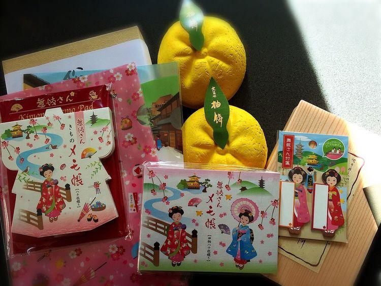 Kyoto のお友達から貰ったんどす‼︎舞妓はん、えぇどすなぁ(*^^*)記念にUPどす‼︎ お土産 おみやげ おみやげ♡