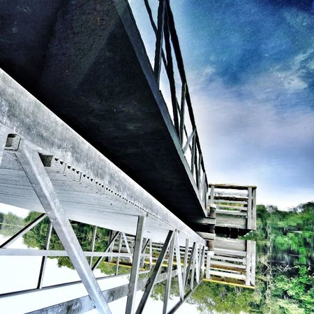 Architecture Built Structure Connection Sky Bridge - Man Made Structure Day Outdoors No People Low Angle View Transportation Building Exterior