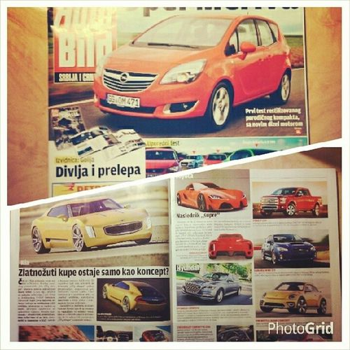 relaxing with best papers Autobild No75 Srbija Cars automotive