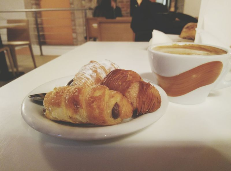 EyeEm Selects Italian sweets in bergamo, italy Food And Drink Ready-to-eat Food Plate Indoors  Croissant Freshness Glazed Food Dessert Italy Bergamo Food Stories
