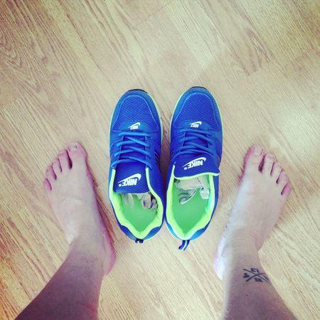 Fresh kicks! Nike Tattoo Color Portrait Street Fashion
