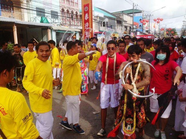YomKippur Festival Attraction Tradition God Shape Believe Respect Eat Vegetable Wear White Wearwhite Ourdoor Phuket Thailand The Architect - 2017 EyeEm Awards