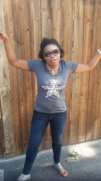 Dallas Cowboys Football Fans Full Length Looking At Camera Mechi Renee One Woman Only Outdoors Standing Sunglasses