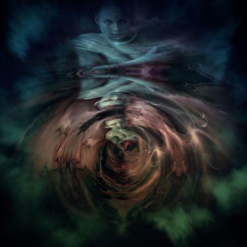 Digital composite image of water