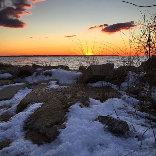 Outer Banks, NC Snow Sunset Landscape Landscape_Collection EyeEm Best Shots Showcase: February 🌊☀️❄️