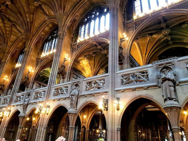 Old Library in Manchester Architecture Arch Place Of Worship Religion Indoors  Ceiling Low Angle View EyeEmNewHere