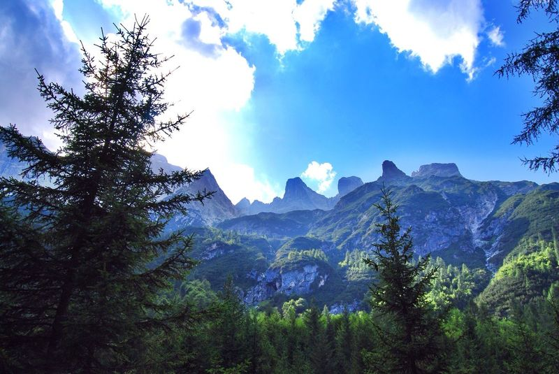 Pecol Di Zoldo , Mountains are shining ! Do u like this view?:) Landscape AmbientFx Like It