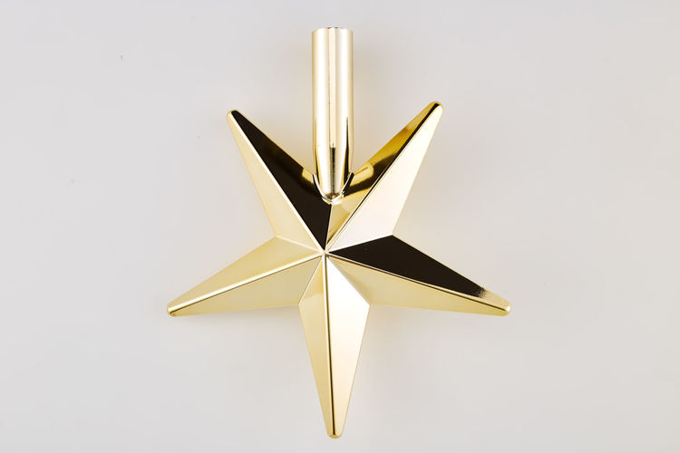 Indoors  Star Shape Studio Shot No People Single Object Close-up Shape Decoration Still Life White Background Christmas Copy Space Illuminated White Color Reflection Christmas Decoration Paper Creativity Cut Out Gold Colored