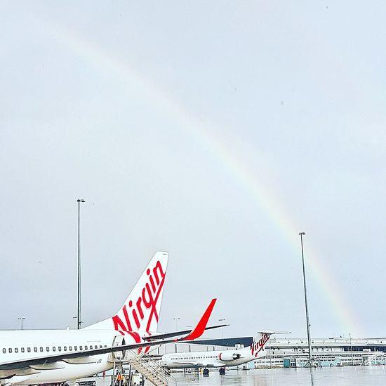 EyeEm Selects Rainbow OutdoorsDay Nature Sky Virgin Australia Airport Wet Weather