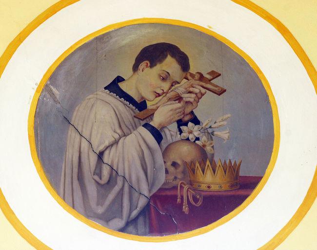 Saint Aloysius Holy Aloysius Art Belief Catholic Christian Christianity Church Croatia Faith Fresco Gospel Old Patron Pray Religion Religious  Saint Spiritual Spirituality Worship