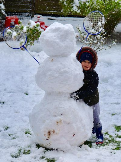 Winter Child Snow Cold Temperature Childhood Real People Full Length