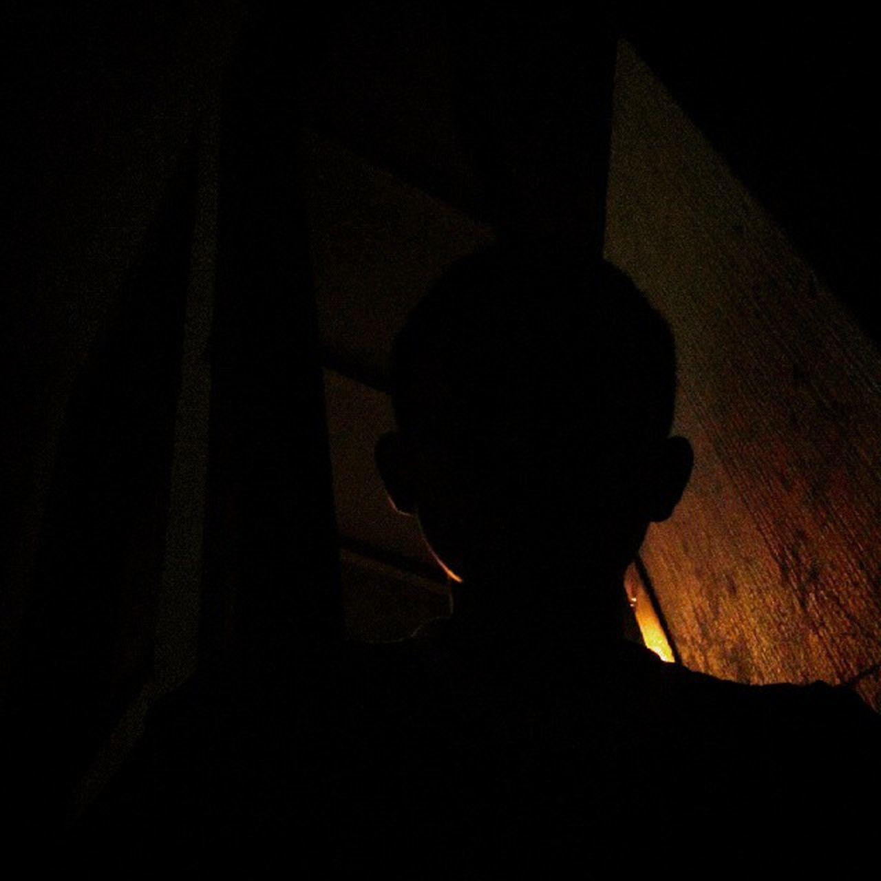 silhouette, one person, shadow, real people, indoors, men, night, people