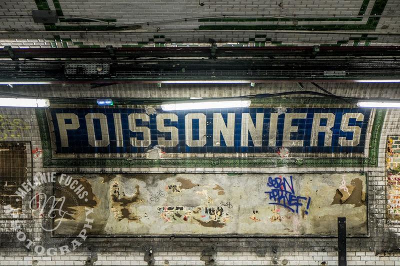 Underground Metro Station Paris