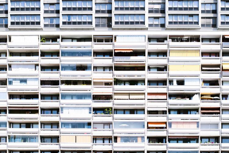 Full frame shot of residential building in city