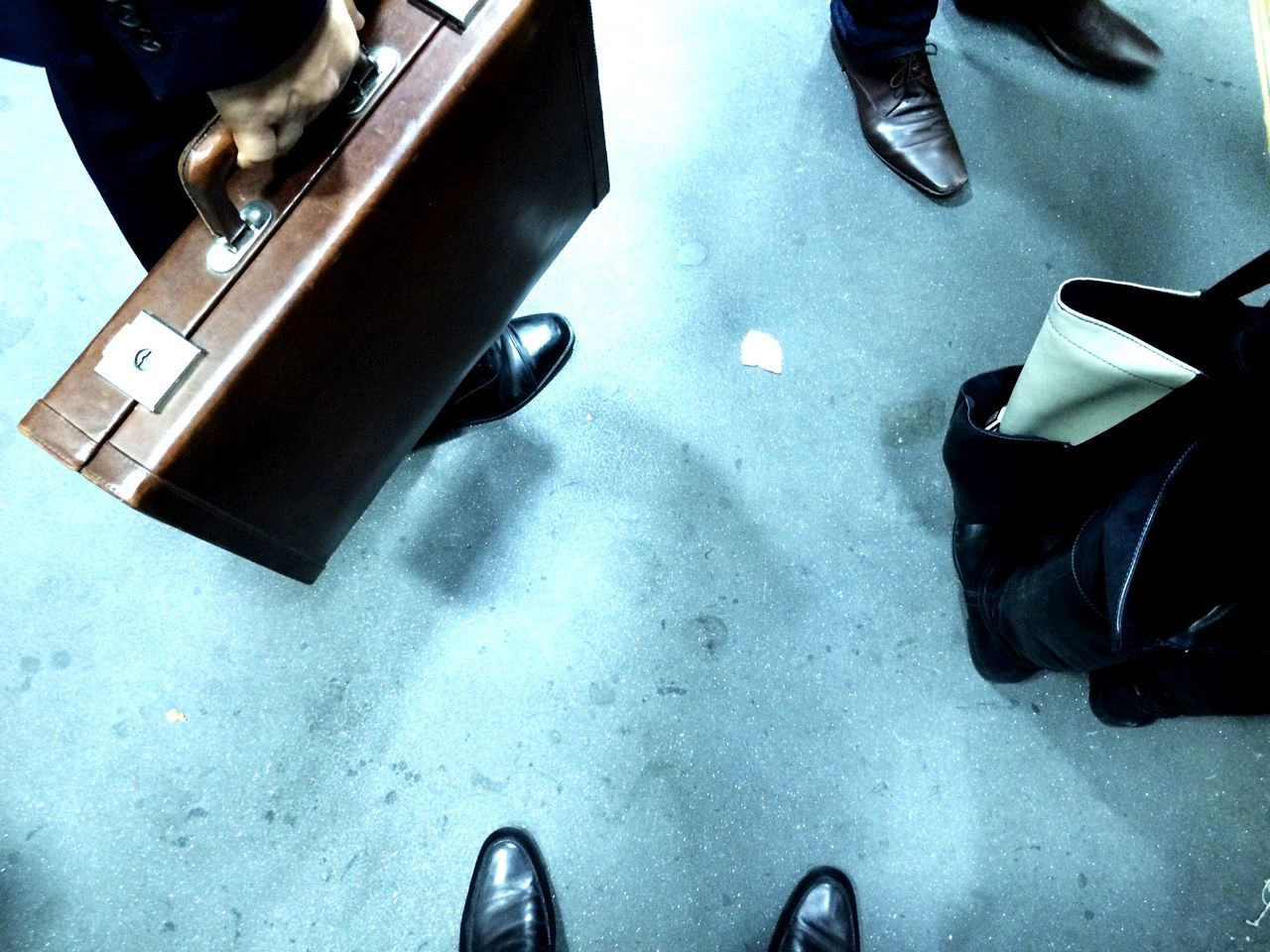 Low section of business people on floor