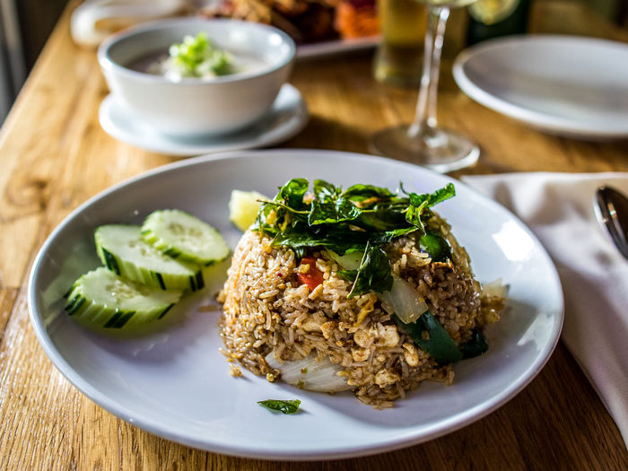 Asian Food Dinner Food Food And Drink Freshness Fried Rice Healthy Eating High Angle View Meal Ready-to-eat Still Life Table Thai Food Vegetarian Food