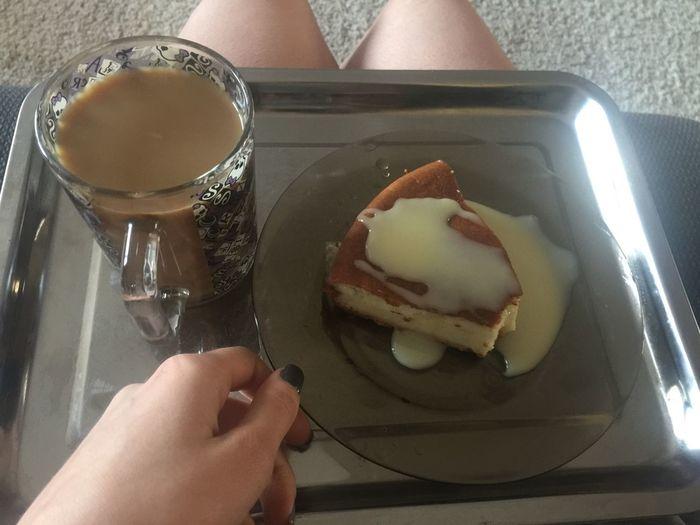 12.30 - творожная запеканка и многоооооооо сгущёнки + кофе ип завтракообед
