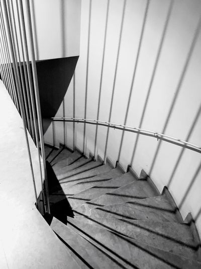 Break The Mold Railing Indoors  Steps And Staircases Staircase No People Day Close-up Hand Rail Stairs Down Up In The Air Electricity  Vertical Symmetry Vertical Horizontal Cut And Paste EyeEm Best Shots Silhouette Architecture Indoors  Blackandwhite Art Is Everywhere Standing Gerona