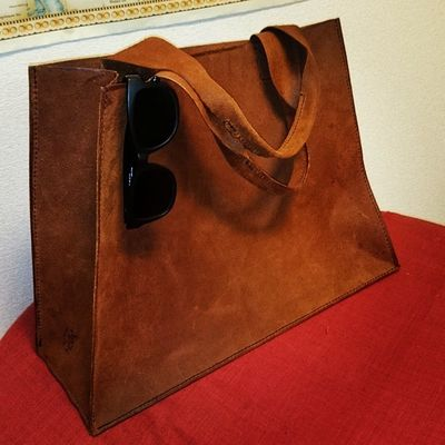 Leather Tote Bag Handmade Bag Leather Livesimple Crafts
