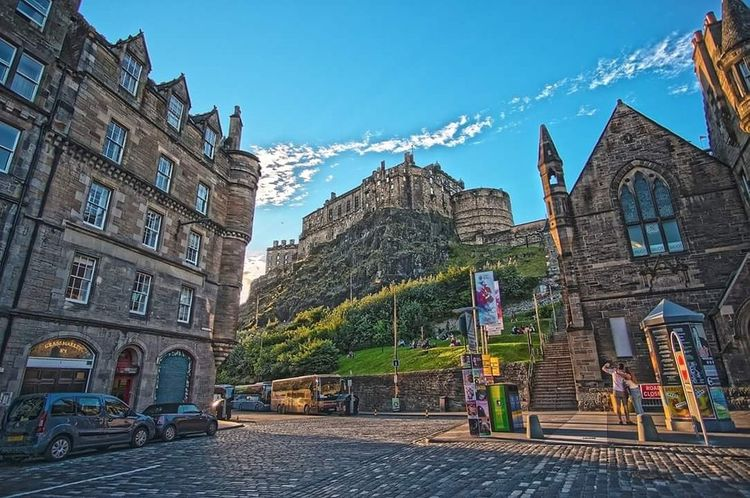 Edinburgh Edinburgh Castle GrassMarket Castle Scotland