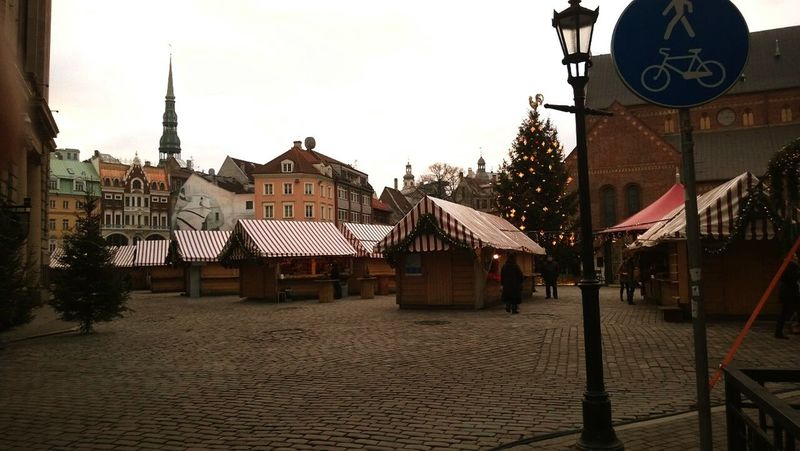 Christmas Time 2014left Riga European City Riga Latvia Oldyear