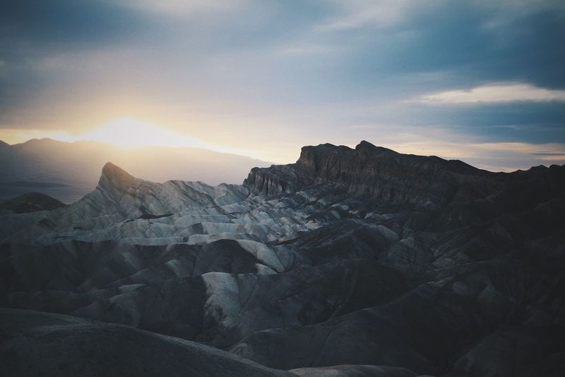 Sky Beauty In Nature Mountain Scenics - Nature Environment Tranquility Sunset Rock Mountain Range