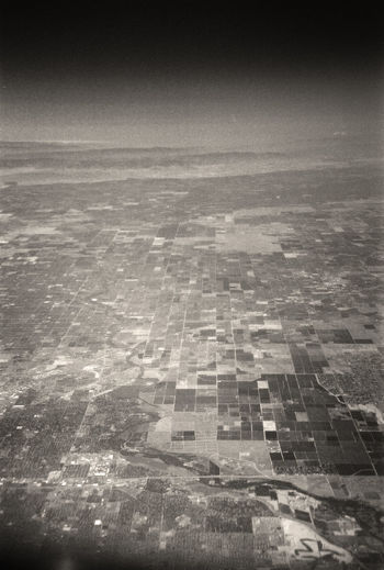 Aerial Photography American West Black & White Photography Community Distance Farming Farming America Human Impact Human Influence Human Settlement Irrigation Patchwork Fields Patterns Residential District