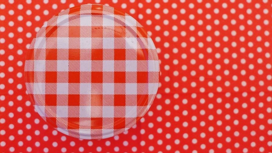 Full frame of red fabric