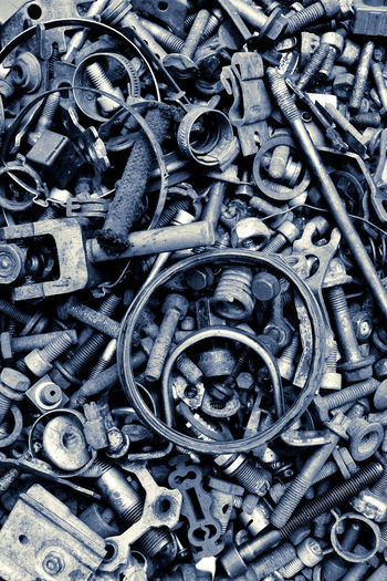 assorted old screws background Repair Shop Repairing Screws Abundance Backgrounds Close-up Day Full Frame Industry Large Group Of Objects Maintain Maintainance Metal Metal Industry No People Nut - Fastener Outdoors Tool Toolbox Tools