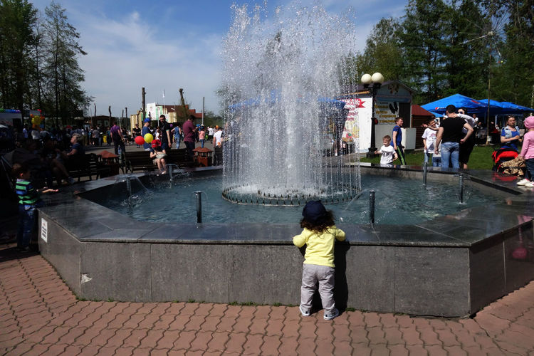 Babyboy The Great Outdoors - 2018 EyeEm Awards Architecture Child Childhood Crowd Day Fountain Full Length Group Of People Large Group Of People Leisure Activity Men Motion Nature Outdoors Real People Splashing Spraying Water Women