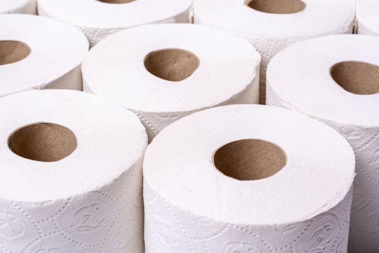 Full frame shot of white papers