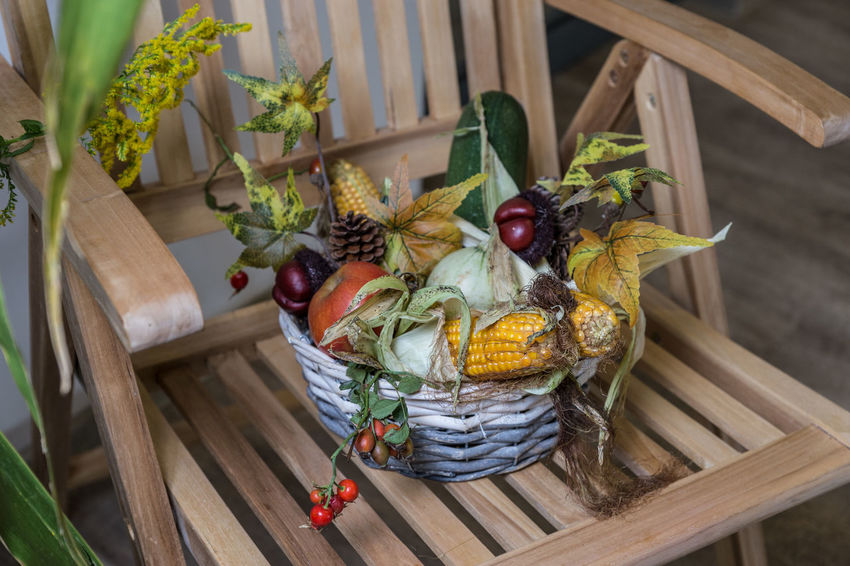 DIY Firm Animal Themes Basket Close-up Day Decoration Food Food And Drink Freshness Fruit Healthy Eating High Angle View Homepage Leaf Nature No People Outdoors Plant Table Vegetable Whicker Wood - Material The Week On EyeEm