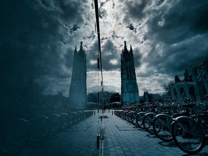 Sauron nous ? Atmospheric Mood Cinematic EyeEm Best Shots P30pro Aechitectural Details Mirror City Water Cityscape Urban Skyline Weather Sky Architecture Cloud - Sky Storm Cloud Cumulonimbus Storm
