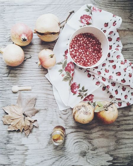 Pomegranate My Favorite Photo Fruits Food Photography Food On The Table View From Above