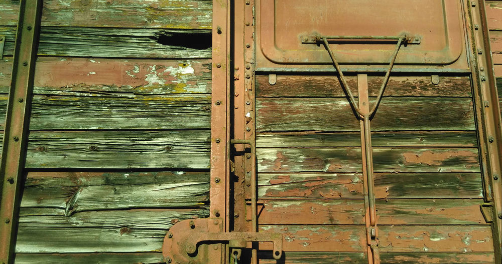 Abandoned Door Fermeture Ferrure No People Porte Puisaye Toucy Train Wagon  Wood Wood - Material