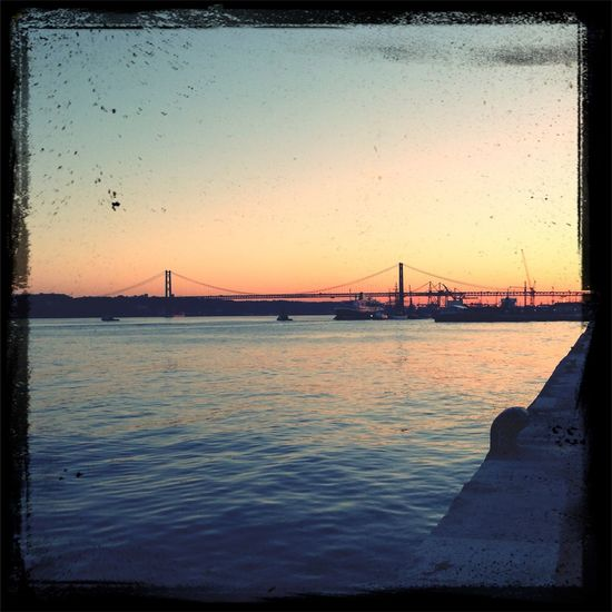 Lisbon Sunset Bridge
