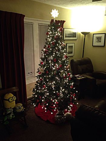 The Adams Family christmas tree