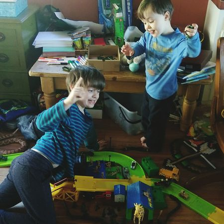 Childhood Boys Child Males  Son Togetherness Indoors  Visual Creativity Holiday Moments
